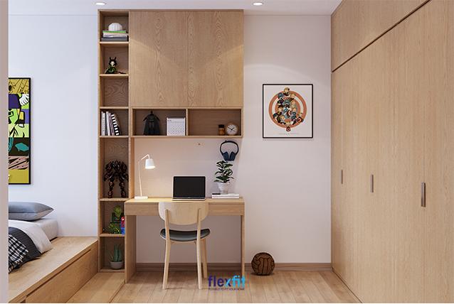 Để tăng thêm phần đặc sắc cho tủ quần áo cũng như căn phòng ngủ bé trai, bạn có thể sử dụng thêm tranh ảnh, tượng siêu nhân, anh hùng trang trí cho phòng