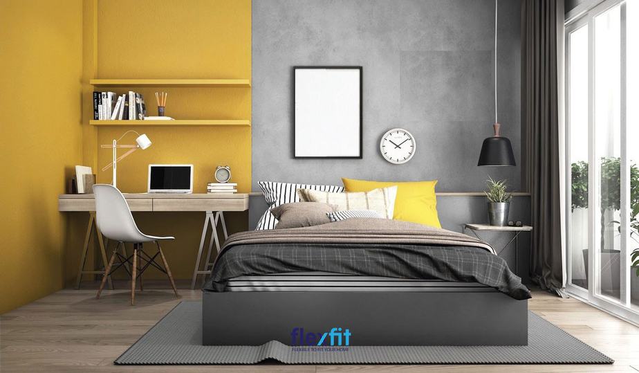 Bàn làm việc trong phòng ngủ thường có kích thước nhỏ gọn, chiếm ít diện tích không gian.