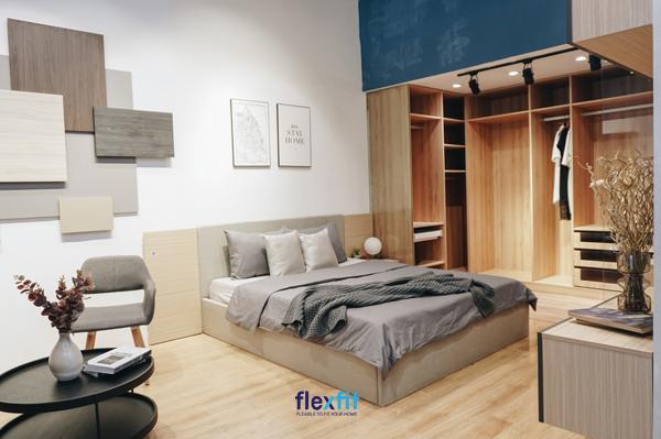 Thiết kế giường ngủ thông minh, hiện đại gỗ công nghiệp sử dụng hệ module dễ dàng thay thế khi xảy ra hỏng hóc.