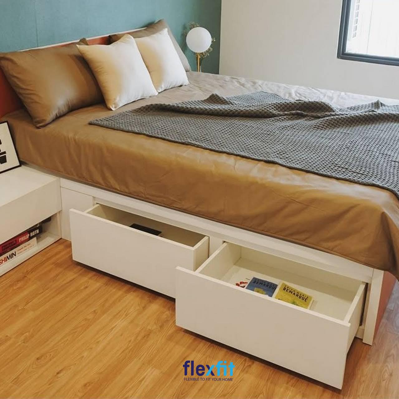Giường có ngăn kéo gỗ công nghiệp là một món đồ nội thất thông minh nên có trong phòng ngủ