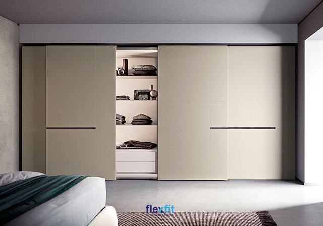 Tủ quần áo âm tường gỗ công nghiệp hiện đại cho phòng ngủ của bạn thêm phong cách.