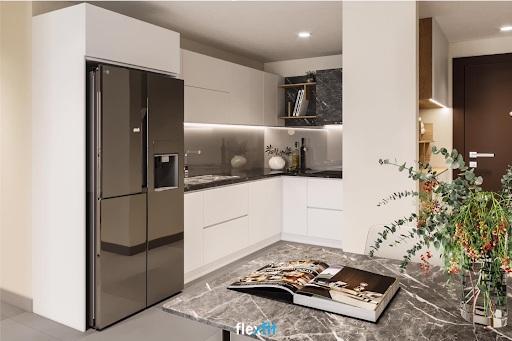 Tủ bếp lắp ghép có thể tận dụng các góc vuông trong phòng bếp một cách hiệu quả giúp tối ưu công năng và nâng cao tính thẩm mỹ cho không gian