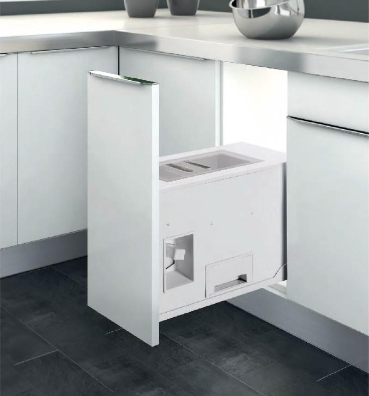 Thùng đựng gạo âm tủ thiết kế hai ngăn thông minh