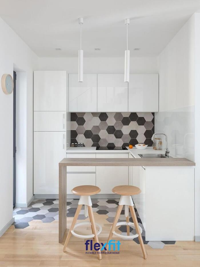 Thiết kế quầy bar phòng bếp đâu cần cầu kỳ như ở quán mà vẫn đẹp và tiện ích