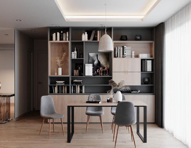Lựa chọn bàn làm việc có kích thước phù hợp với không gian để phát huy hết công năng và tính thẩm mỹ.