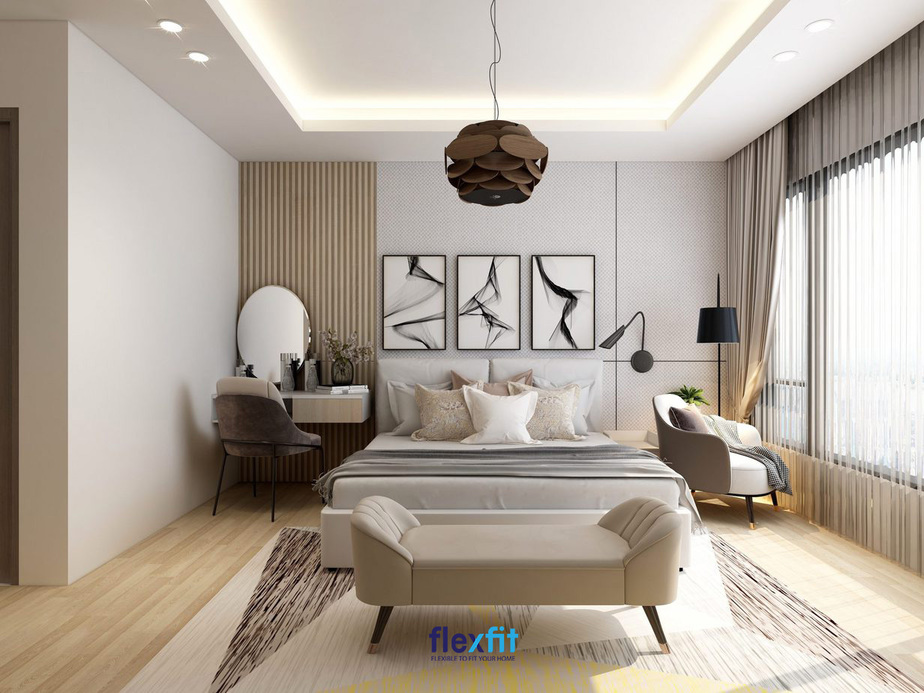 Đặt ghế sofa hướng về phía cửa sổ để bạn có không gian thư giãn thoải mái, đón ánh sáng, gió tự nhiên