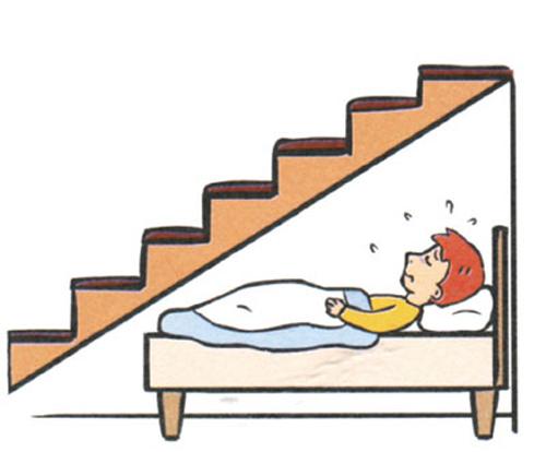 Việc thiết kế phòng ngủ dưới cầu thang thường bị cho rằng sẽ gây ảnh hưởng xấu đến sức khỏe người sử dụng