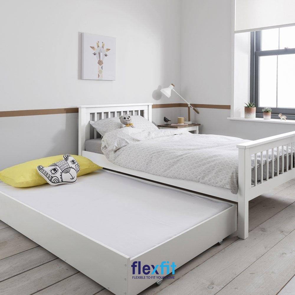 Mẫu giường 2 tầng kéo thông minh, tiết kiệm diện tích lý tưởng, tiện dụng kéo ra, đẩy vào