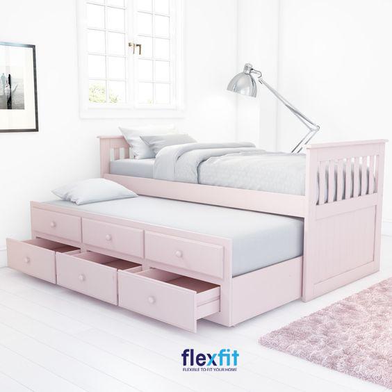Thiết kế màu hồng mang lại vẻ đẹp ngọt ngào, nữ tính cho căn phòng.