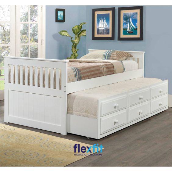 Thiết kế trắng giúp căn phòng trở nên hiện đại, tinh tế và sang trọng hơn.