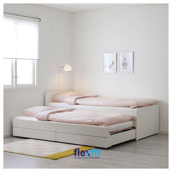 Giường ngủ 2 tầng thấp sở hữu thiết kế đơn giản nhưng cực thanh lịch và ấn tượng, mang lại sự thoải mái tối đa khi sử dụng.