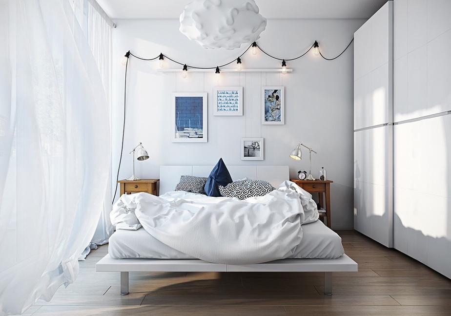 Phòng ngủ theo phong cách Scandinavian tuy đơn giản song vẫn tiện nghi và mang vẻ đẹp tinh tế