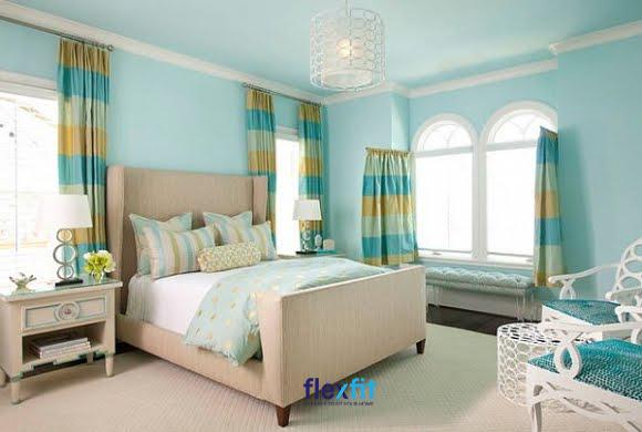Màu sắc cần được phối hợp hài hòa với đồ nội thất để tạo nên sự đẹp mắt