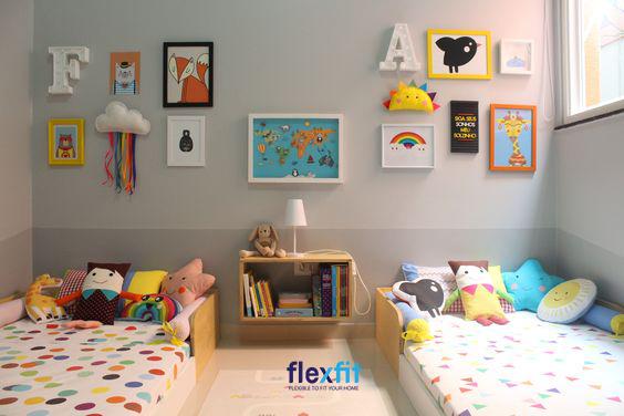 Họa tiết góp phần giúp căn phòng trở nên đáng yêu và thú vị hơn.