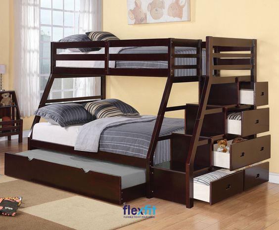 Vừa là nơi nghỉ ngơi, vừa có các ngăn chứa đồ đa năng thì chắc hẳn đây là mẫu giường tầng đa năng bạn không thể bỏ qua.