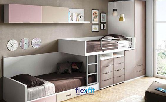 Tích hợp tủ quần áo, ngăn kéo với giường ngủ một cách khéo léo giúp cho chiếc giường trở thành một đồ nội thất vô cùng đa năng.