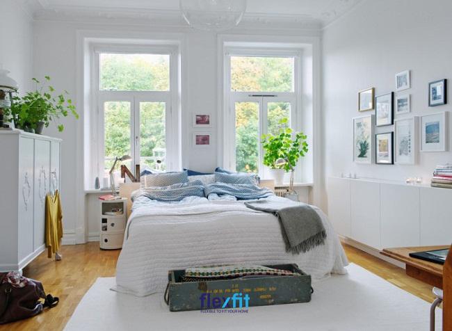 Khăn vải thường được sử dụng để decor cho chiếc giường thêm xinh