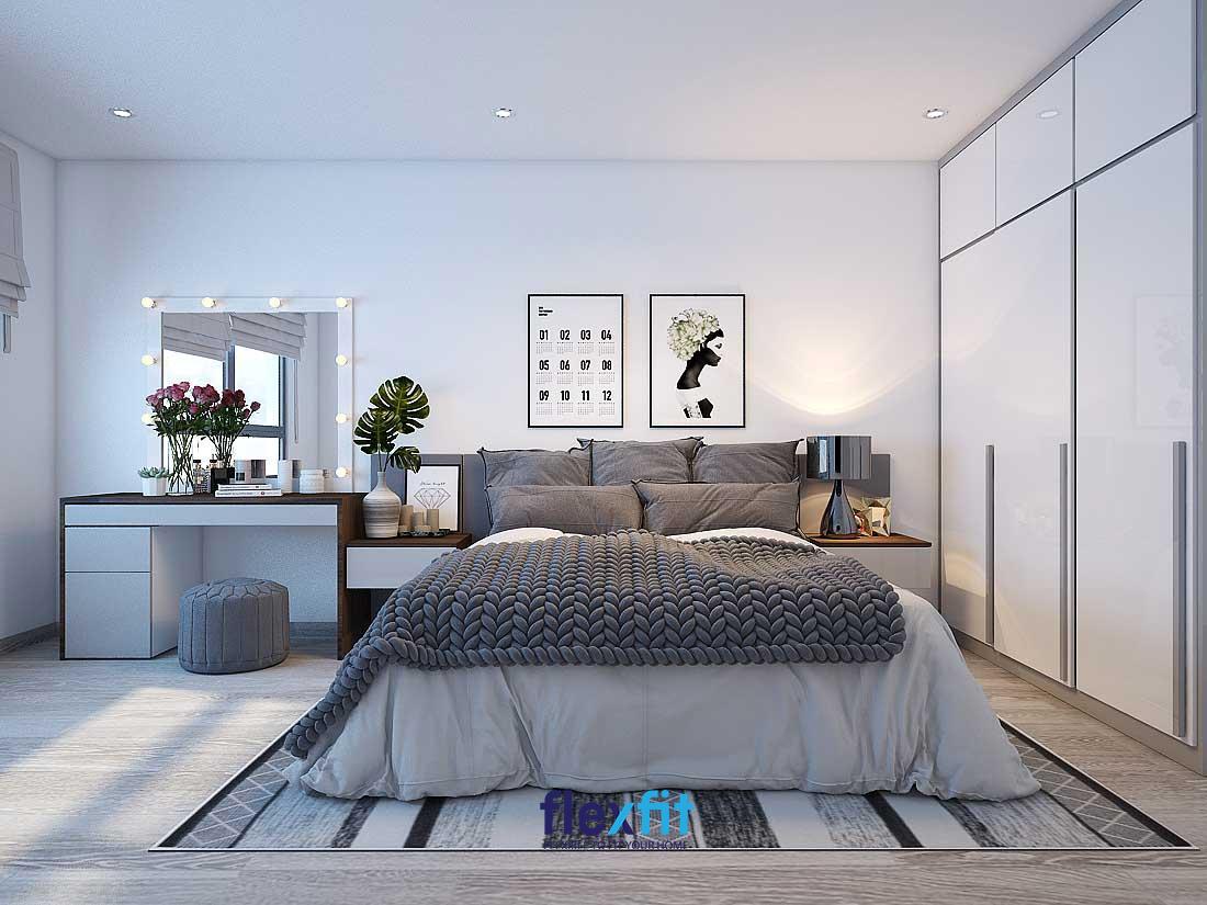 Trung bình 1 phòng ngủ master theo phong cách hiện đại thường có diện tích khoảng 30-40m2