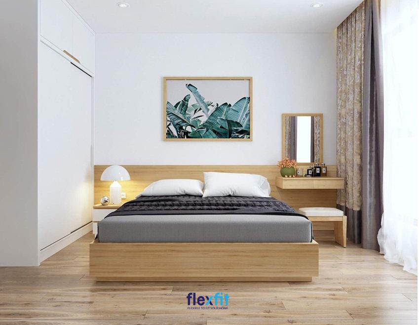 Thiết kế phòng ngủ tối giản hướng đến việc sử dụng những gam màu sáng cùng những chi tiết đơn giản, hài hòa