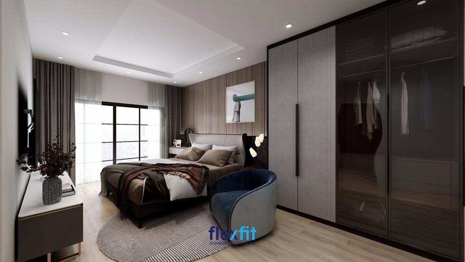 Mẫu phòng ngủ cổ điển với tone màu đậm chất thuần Châu Âu này sẽ là một sự lựa chọn thích hợp cho những người có phần hướng nội