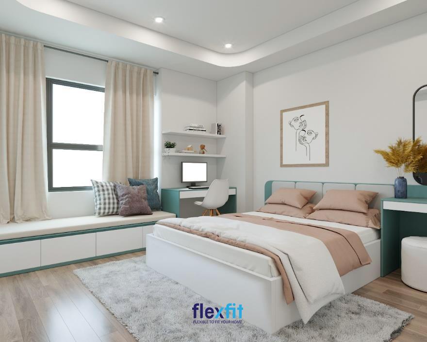 Phòng ngủ được thiết kế thông minh, khoa học tạo ra không gian sống lý tưởng, gọn gàng, thư giãn nhất cho chủ nhân