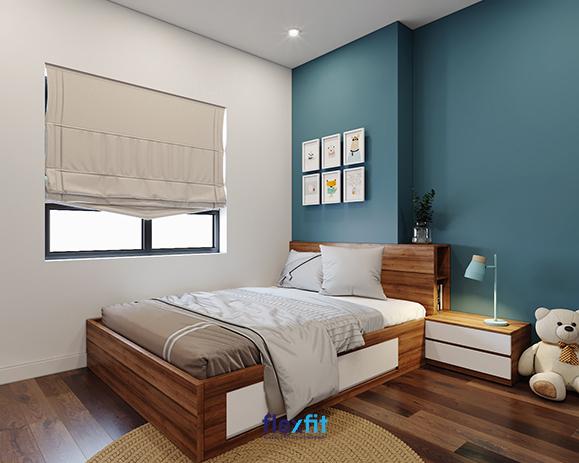 Đối với những không gian phòng ngủ có diện tích nhỏ việc sắp xếp gọn gàng các đồ nội thất đã giúp bạn có một không gian nghỉ ngơi vô cùng tiện nghi