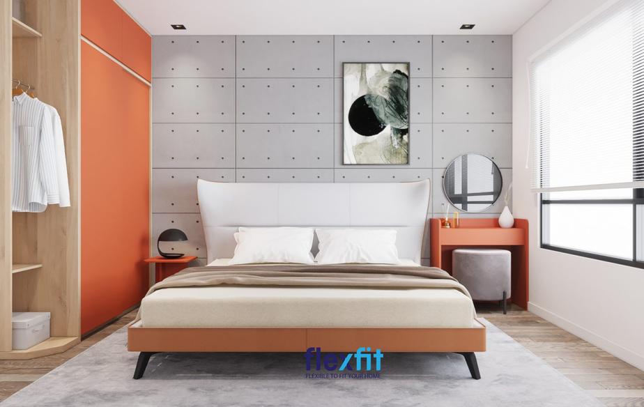 Người mệnh Thổ hợp với màu cam nên phòng ngủ sử dụng gam màu này có tác dụng phong thủy tốt