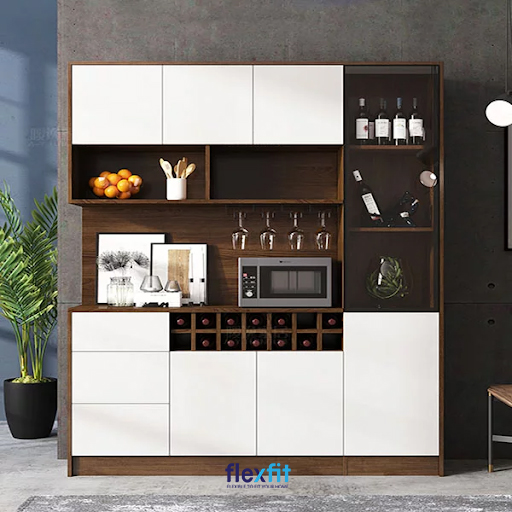 Mẫu tủ đứng mang lại vẻ đẹp sang trọng, là điểm nhấn nổi bật góp phần cho không gian quây quần của mỗi gia đình.