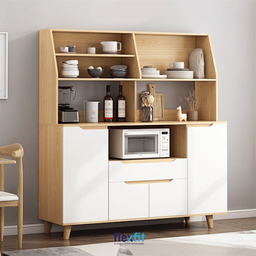 Tủ bếp đứng đa năng là sự lựa chọn tuyệt vời giúp không gian luôn sàng và nổi bật.