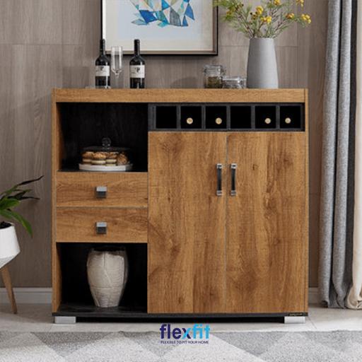 Tủ bếp màu nâu gỗ là sự lựa chọn hoàn hảo cho căn bếp của mỗi gia đình