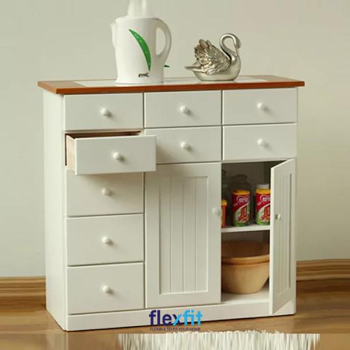 Sản phẩm có nhiều ngăn chứa nhỏ giúp bạn dễ dàng bảo quản, sắp xếp đồ gia dụng trong căn bếp gia đình.