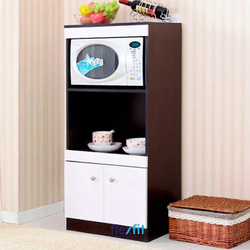Thiết kế 3 tầng riêng biệt giúp bạn dê x dàng và thuận tiện trong việc sắp xếp đồ gia dụng trong căn bếp của mình.