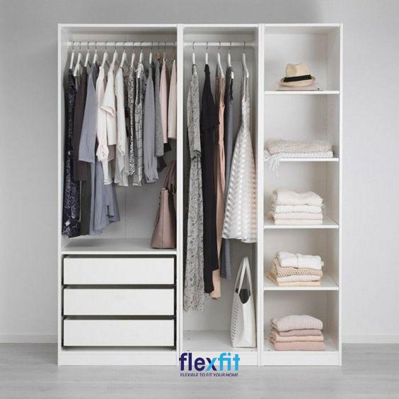 Với nhiều khoảng trống rộng rãi, bạn có thể tận dụng một cách tối đa các ngăn chứa để gấp gọn quần áo và đồ dùng sinh hoạt.