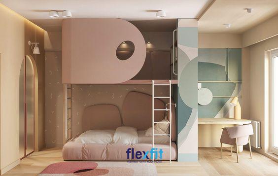 Với thiết kế cánh tầng 2 độc đáo, phần lan can được biến hóa thành cánh cửa mang lại cảm giác chắc chắn, an toàn mà vẫn đảm bảo tính thẩm mỹ.