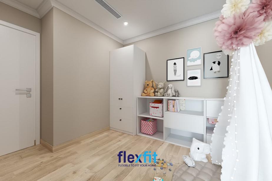 Phòng ngủ cho trẻ em, với việc đặt những mẫu nội thất trong góc phòng, càng đơn giản càng dễ thương, toát lên vẻ hiện đại, thanh lịch và nhẹ nhàng, thư thái