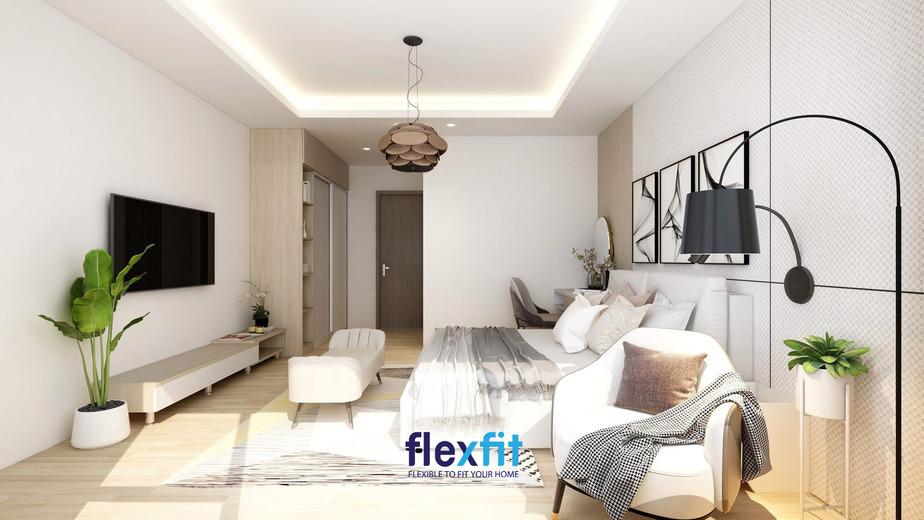 Không gian phòng ngủ với sự kết hợp hài hòa của mẫu nội thất phòng ngủ phong cách Châu Âu này mang lại cảm giác rất dễ chịu.
