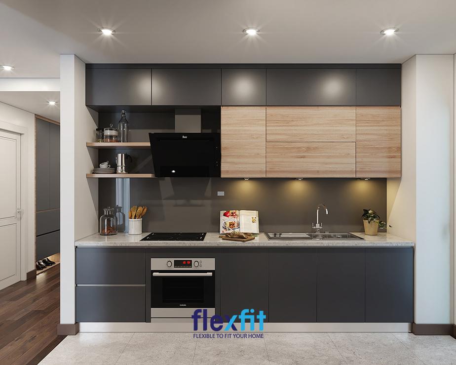 Thiết kế phòng bếp hiện đại cho không gian nhỏ