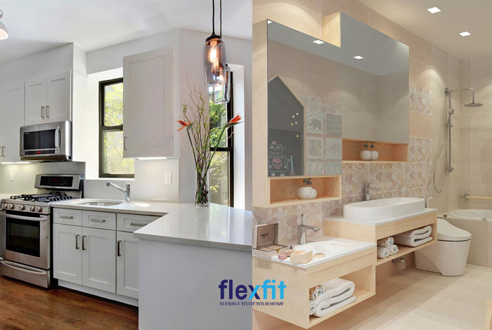 Nhà ống chiều dài sâu bài trí khu trong cùng nhà là phòng bếp và nhà vệ sinh vẫn đảm bảo các công năng, hợp phong thủy và thuận tiện sử dụng