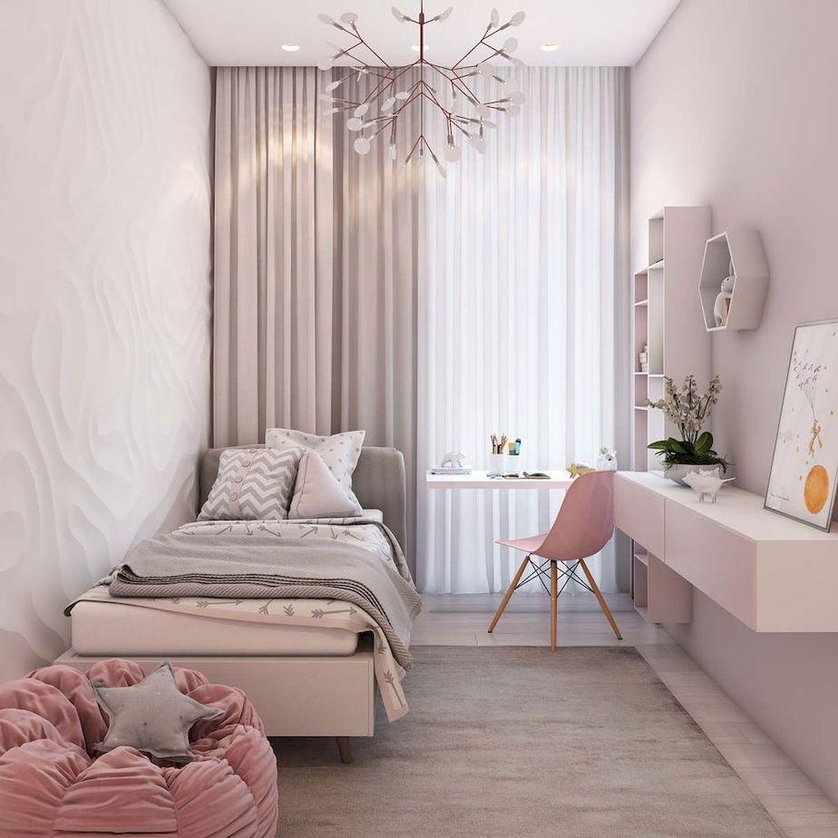Hạn chế đồ đạc và tận dụng không gian để bày trí phòng ngủ