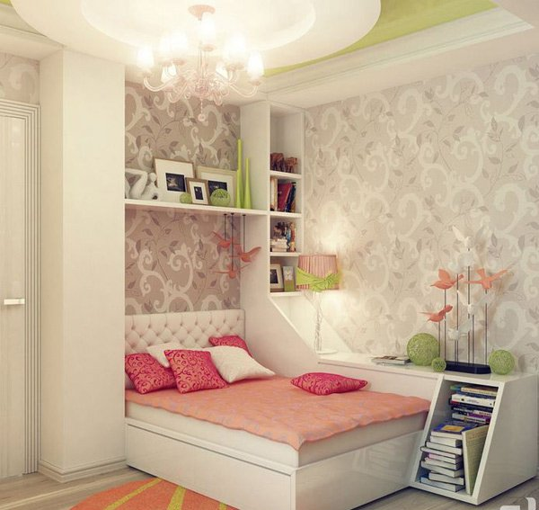 Thiết kế thông minh giường ngủ tích hợp bàn học, kệ để đồ