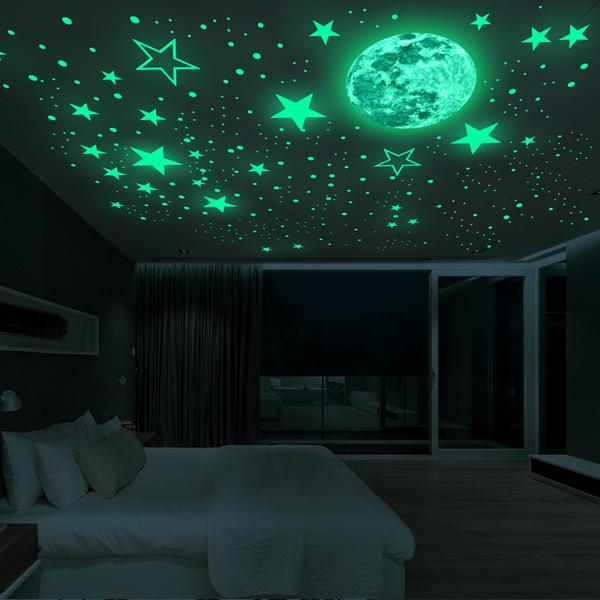 Khi tắt điện, cả bầu trời đầy sau sẽ hiện lên trước mắt bé