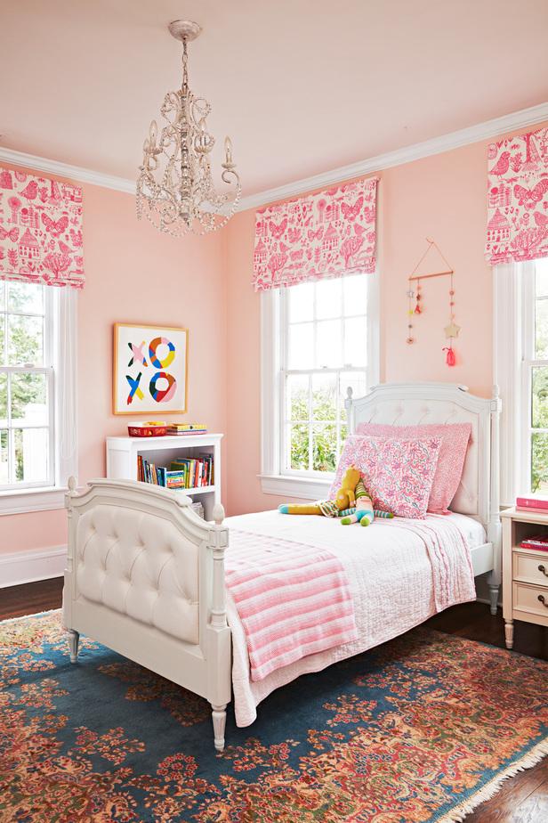 Phối hợp phòng ngủ cho bé gái không hề khó