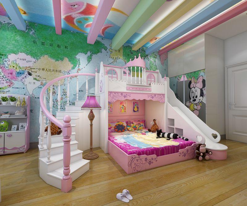 Một chiếc giường được thiết kế như một lâu đài cùng là ý tưởng hay