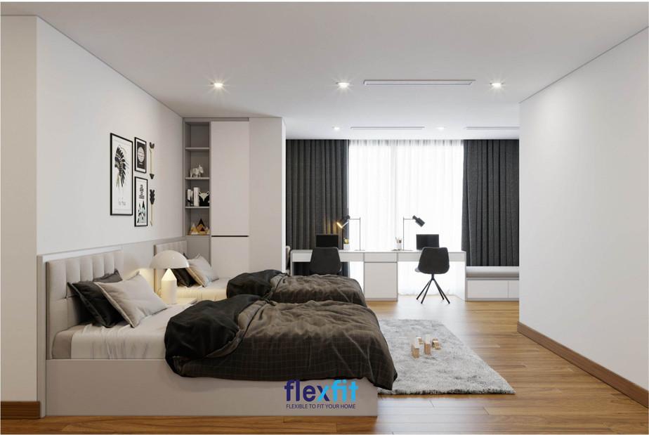 Với những căn phòng có 2 giường thì nên chọn bộ chăn ga có họa tiết tương tự và đồng điệu với tất cả nội thất trong phòng để mang đến sự hòa hợp cũng như vẻ đẹp tuyệt mỹ, hoàn hảo nhất.