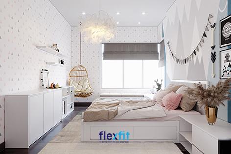 Phòng ngủ của bạn sẽ trở thành không gian chill và thư giãn khi được trang trí theo cách của riêng bạn. Những mảng tường màu sắc cùng những món đồ decor nhỏ xinh góp phần tạo nên một căn phòng mang vẻ đẹp mộng mơ, độc đáo.