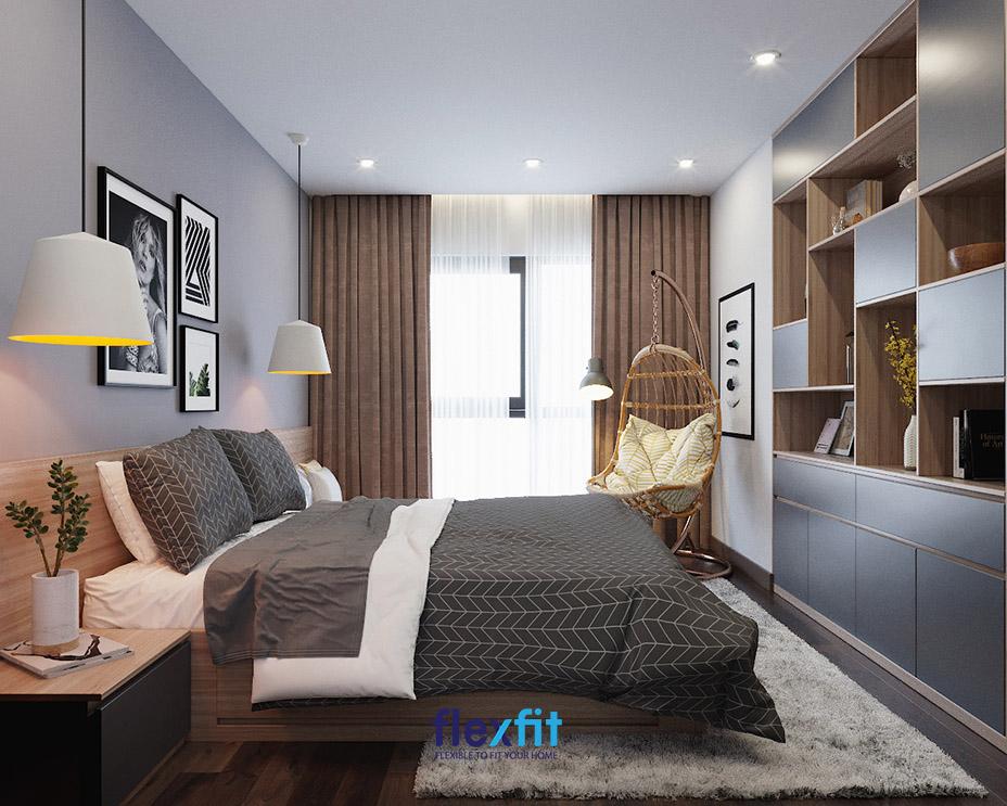 """Một chiếc xích đu góp mặt trong phòng ngủ của bạn không chỉ giúp bạn có một góc đọc sách, thư giãn cực """"chill"""" mà góp phần tăng vẻ đẹp ấm cúng, mới lạ cho căn phòng của bạn."""