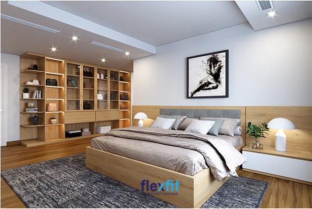 Không quá cầu kỳ, kiểu cách nhưng căn phòng vẫn toát lên vẻ đẹp sang trọng, ấm áp nhờ vào hệ thống chiếu sáng. Đừng quên trang trí thêm cho căn phòng ngủ của mình những bức tranh hoặc một vài món đồ lưu niệm, chậu cây xanh nhỏ để mang lại vẻ đẹp hoàn thiện cho căn phòng.