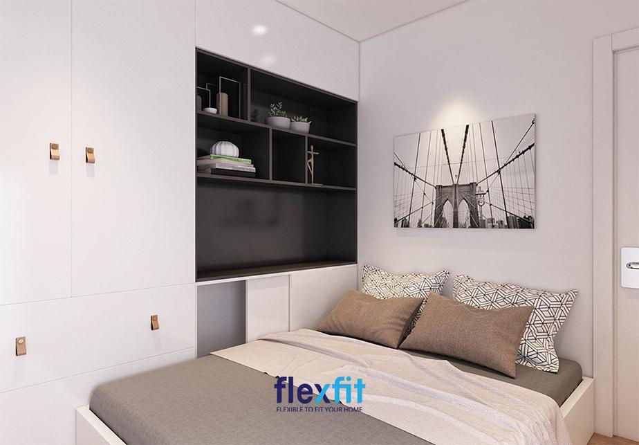 Với những căn phòng thiết kế decor đơn giản thì không thể bỏ qua sự kết hợp giữa hai gam màu kinh điển trắng - đen. Chỉ cần bạn khéo léo pha trộn thêm một số họa tiết nhỏ khác cũng đủ để mang lại vẻ đẹp độc đáo cho căn phòng.