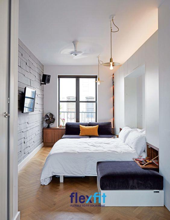 Sử dụng đồ nội thất tích hợp sẽ giúp mang lại vẻ đẹp hiện đại, đầy đủ mà tiện nghi.