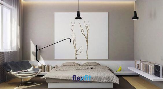 Không gian đẹp hiện đại, tinh tế nhờ việc sắp xếp và chọn lựa nội thất trang trí màu xám - trắng nhưng không kém phần độc đáo